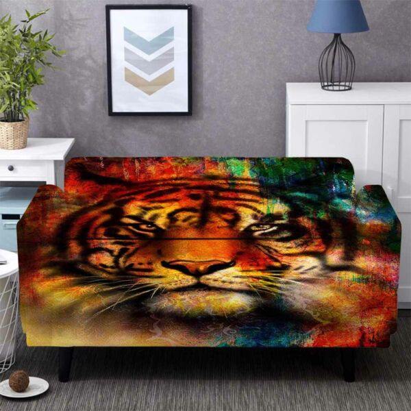 Tiger Nose Stretch Sofa Cover Lounge Couch Slipcover Recliner Protector Washable AU $43.11