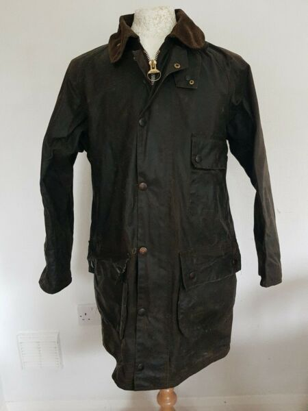 BARBOUR A98 Solway Zipper Vintage 38 inch 97cm Wax Jacket