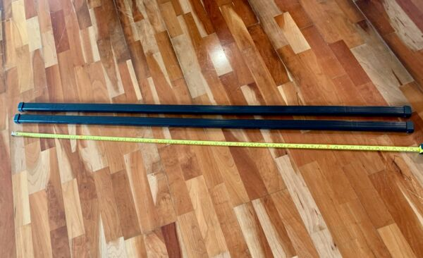 Thule Square Load Bars 58quot; With End Caps Pair Great Condition $64.99