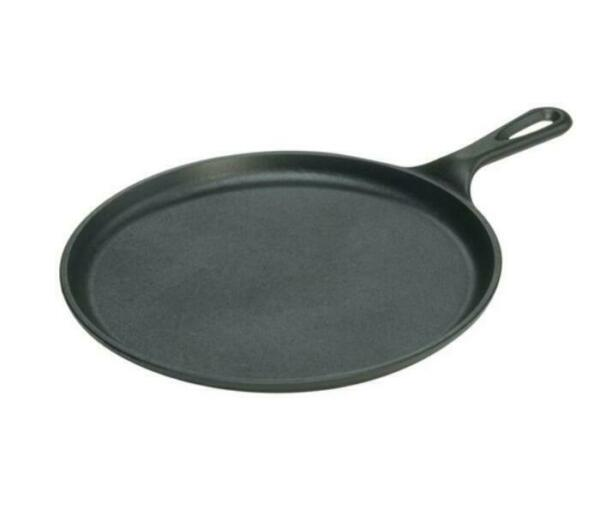 Lodge Pre Seasoned 10.5 Inch Cast Iron Griddle with Easy Grip Handle L9OG3