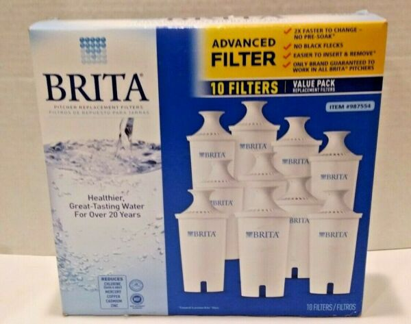Brita Pitcher Replacement Filters 8 Pack NEW SEALED Pitcher Water Filter System