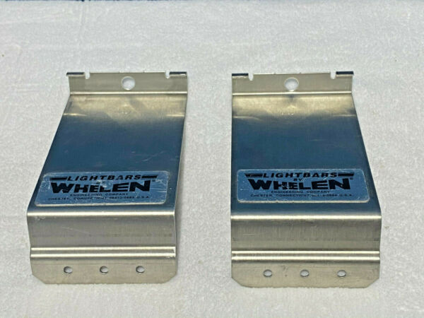 Set of 2 Whelen Lightbar Model MKEZ5 Gutter Mount Hook Mount #60921