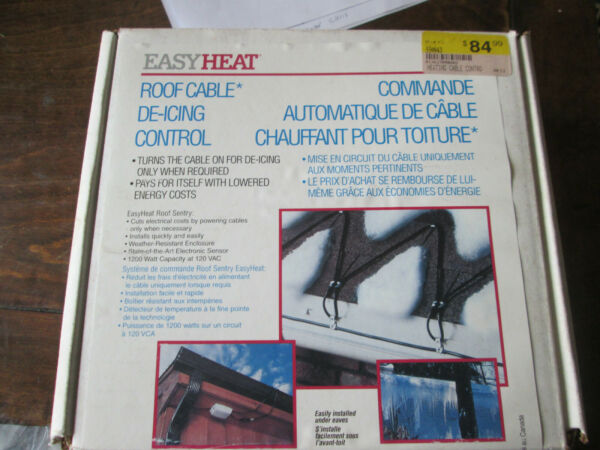 EASY HEAT ELECTRIC ROOF amp; GUTTER DE ICING CABLE CONTROL RS 1 Roof Sentry $49.95