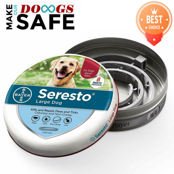 Bayer Seresto Flea and Tick Collar for Large Dogs Over 18lbs 8 Month Protection $21.99