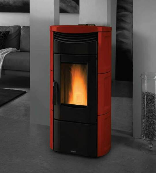 Vicenza V4.5R Red Pellet Stove by Extraflame S.P.A. IRS 26% Tax Credit $2099.00