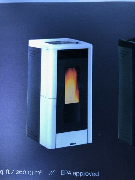 Vicenza Pellet Stove V5.2W White by Extraflame S.P.A. IRS 26% Tax Credit $1999.00