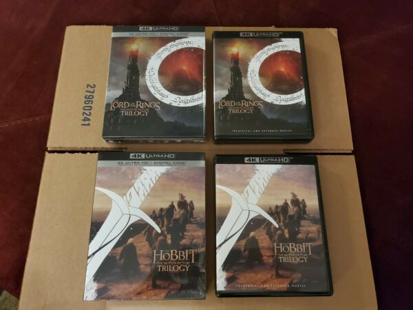 Lord of the Rings Hobbit: w Slipcases 4K Ultra HD Disc No Codes 15 Disc Set