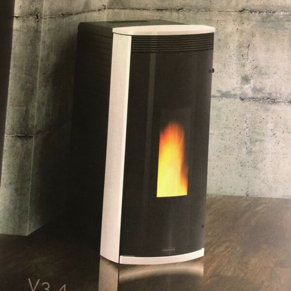 Vicenza Pellet Stove V3.4W White by Extraflame S.P.A. IRS 26% Tax Credit $2099.00