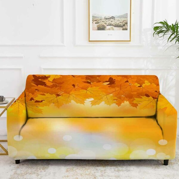 Orange Nice Sunset Stretch Sofa Cover Lounge Couch Slipcover Recliner Protector AU $43.11