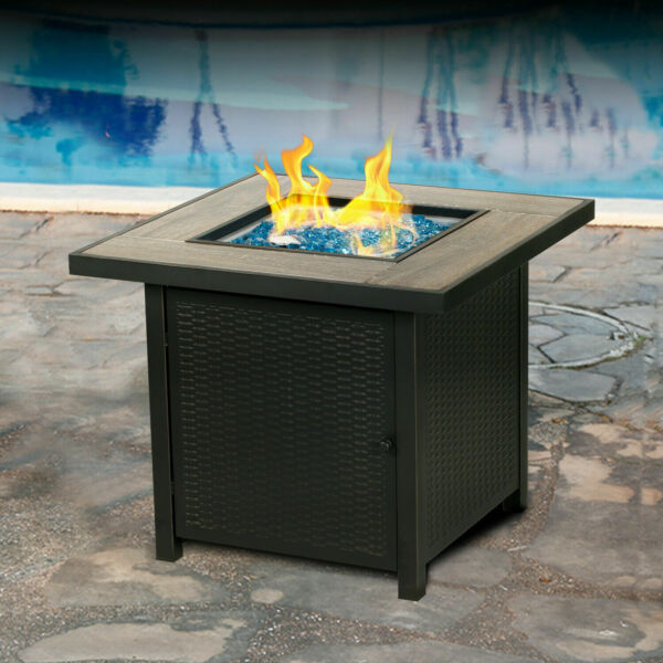 Gas Fire Table 30 in W 50000 BTU BALI OUTDOORS LP Propane Gas Fireplace Outdoor