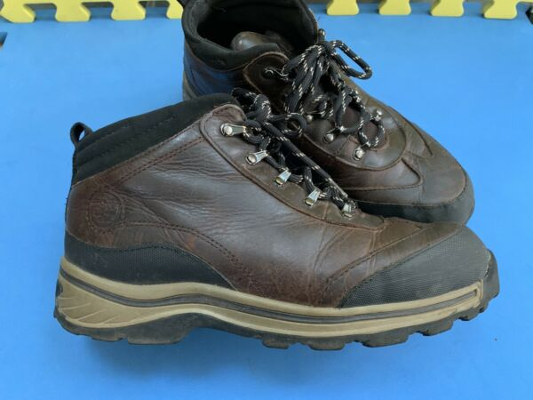Timberland Boys Youth Brown Leather Hiking Trail Ankle Boots Size 6 #22913 EUC $9.99