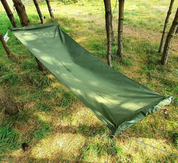 US Army Military M1966 Jungle Hammock Without Canopy Green Nylon OD Vietnam Type $59.00