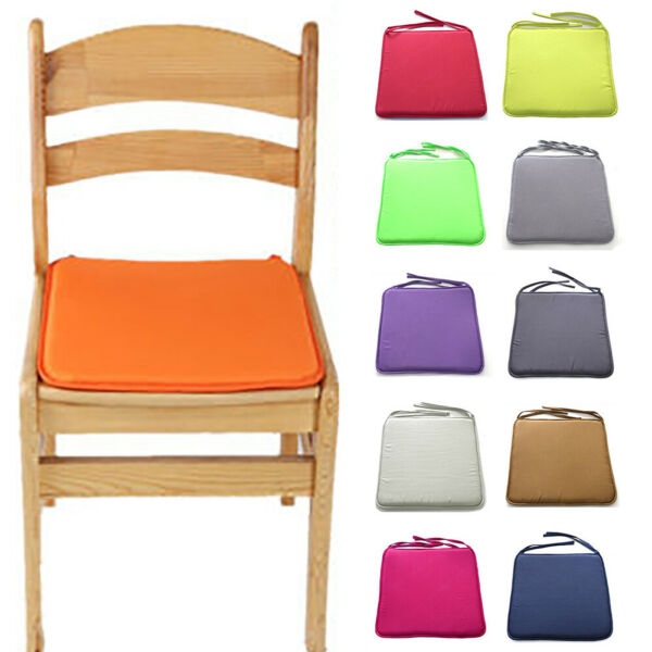 Chair Seat Pads Outdoor Cushion Tie on Garden Patio Removable Cover $19.12