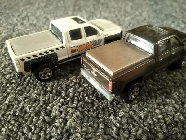 Matchbox 2014 Chevy Silverado CUSTOM Bed Cover Made From Aluminum.... $7.99