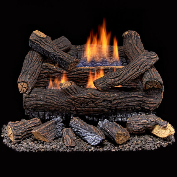 Duluth Forge Ventless Natural Gas Log Set 18 in. Stacked Red Oak #DLS N18M 2