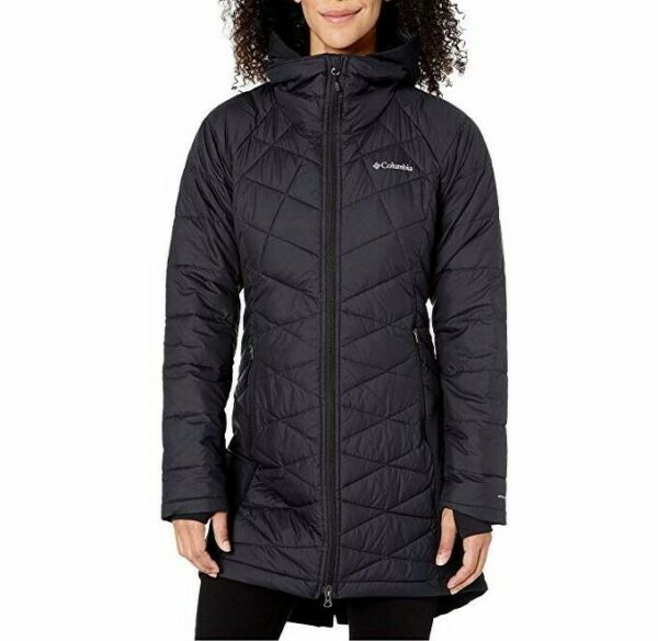 $140 Womens M L COLUMBIA HEAVENLY HYBRID LONG INSULATED OMNI HEAT JACKET