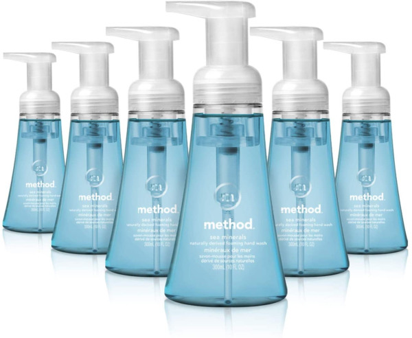 Method Foaming Hand Soap Sea Minerals 10 Fl Oz Pack of 6