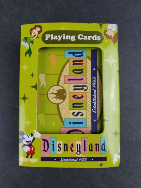 RETRO VINTAGE DISNEYLAND PARK EXCLUSIVE PLAYING CARDS Excellent HARD TO FIND Set $9.95