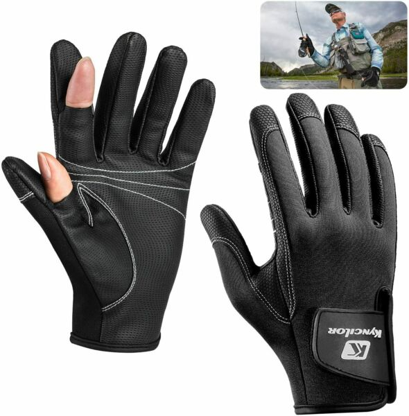 Outdoor Winter Non slip Fishing Gloves Fly Fishing Warm Gloves for Cold Weather $12.99
