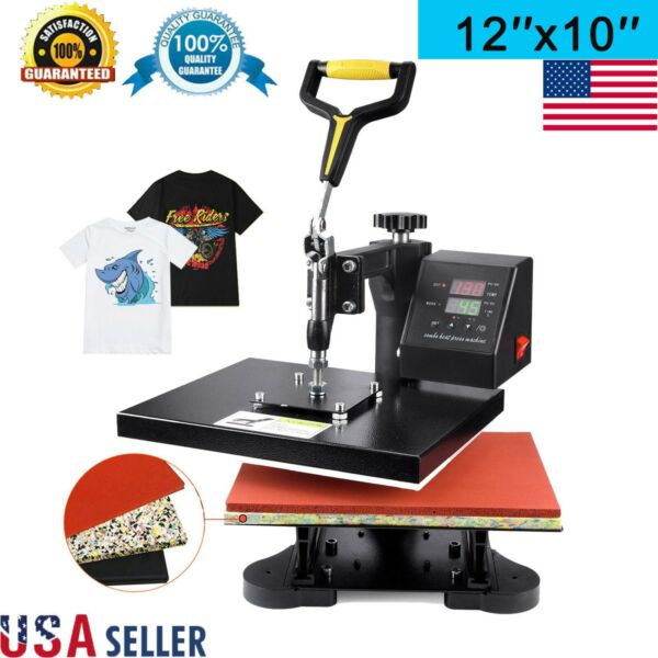 360 Degree T Shirt Heat Press Sublimation Transfer Machine 12quot; x 10quot; Swing Away $92.29