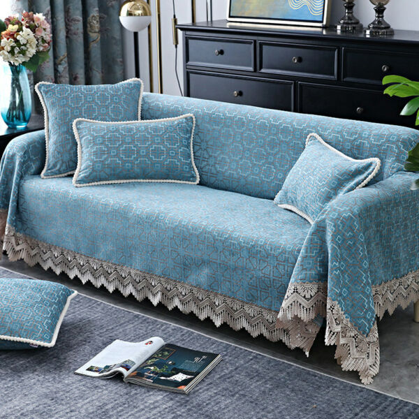 European Lace 1 2 3 4 Seater Sofa Covers Universal Slipcover Chaise Towel Throw $76.00