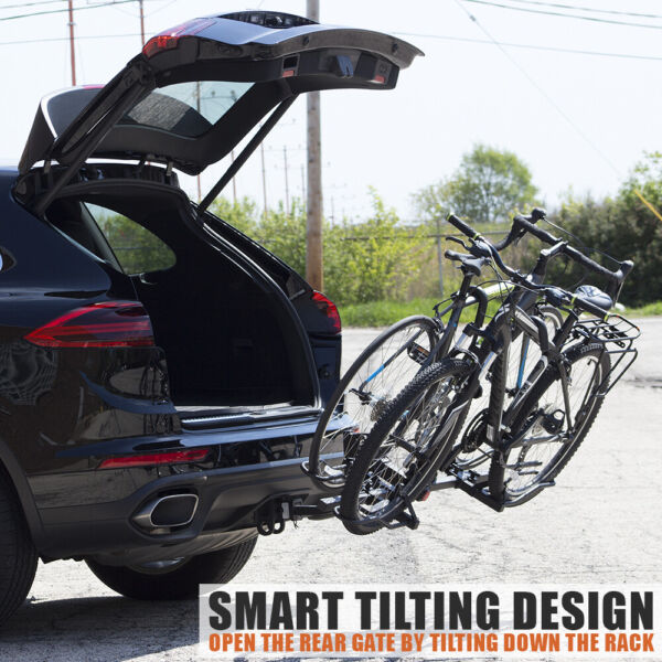 BV 2 Bike Rack Hitch Mount Carrier for Car SUV Tray Style Smart Tilting Design $189.99