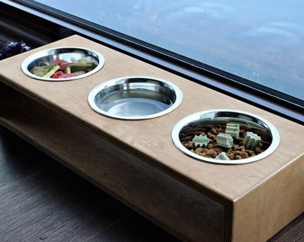 Bowls Modern Dog furniture Luxury pet feeder Dog Bowl Kitten Dog Dish Gift $75.00