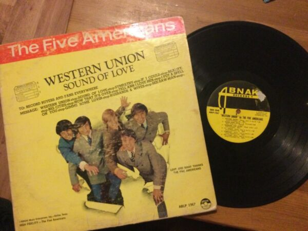 Five Americans: Western Union LP ABNAK ABLP 1967..60's GARAGE Tested SOLID at VG