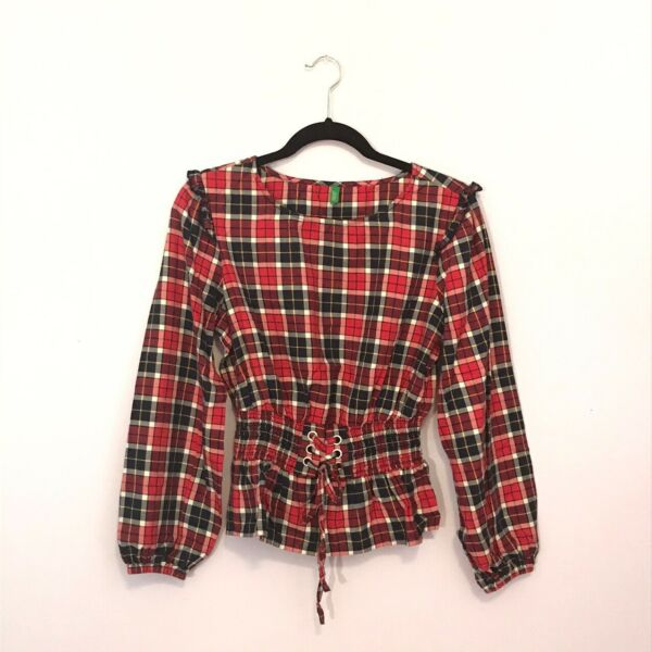 Vintage Corset Top Plaid