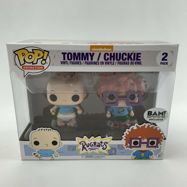 Funko Pop Tommy And Chuckie 2 Pack BAM Exclusive Nickelodeon Rugrats Brand New $84.99