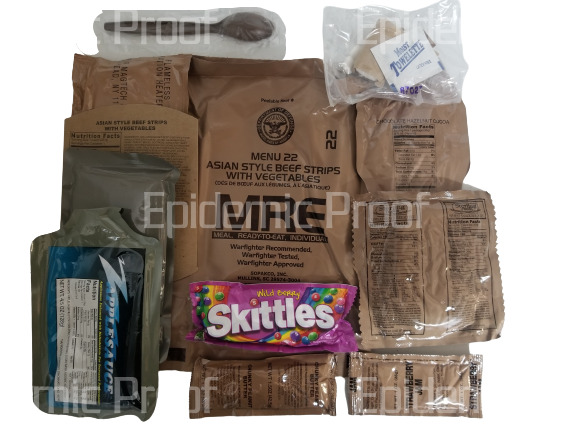 1 INDIVIDUAL 2021 MRE YOU CHOOSE MENU GENUINE US MILITARY MEAL READY TO EAT