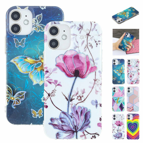 For iPhone 12 Pro 11 XR XS 7 8 TPU Slim Phone Case Pattern Silicone Luxury $7.99