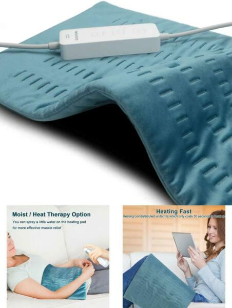 XL Weighted Electric Heating Pad For Back Pain And Cramps Relief Fast Hot With $26.99
