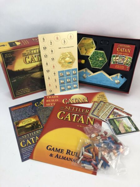 Settlers Of Catan Board Game Preowned Complete