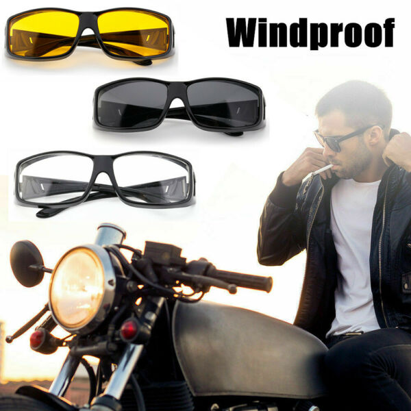 3PCS Combo Motorcycle Bike Riding Glasses Anti Fog Wind Lens Sports Sunglasses $9.19