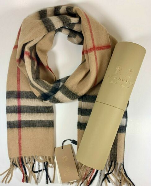 BRAND NEW WITH TAGS BURBERRY Cashmere Scarf Classic 100% Authentic $139.00