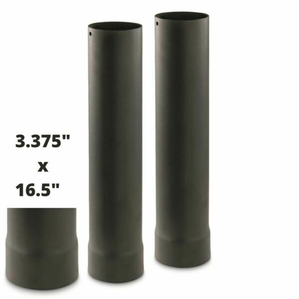 2 GUIDE GEAR OUTDOOR WOOD STOVE PIPE EXTENSIONS 2A OC029 WX2 648081 885344585037 $44.65