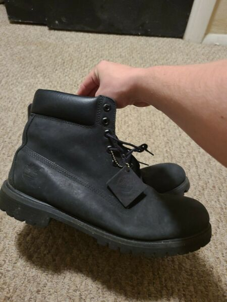 Mens Timberland Boots 10073 Black Leather size 11.5 $50.00