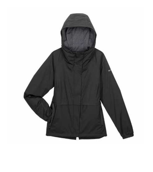 Columbia Women#x27;s Waterproof Omni Tech Drop Tail Rain Jacket Black Medium