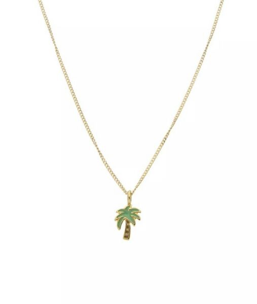 Dogeared Palm Tree Necklace Gold Chain Adjustable
