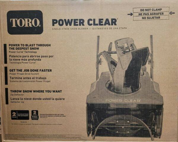 Toro Power Clear 821 QZE 21in. 252cc Single Stage Self Propelled Gas Snow Blower