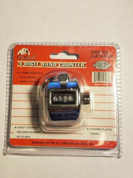 PIT BULL Portable 4 Digit Hand Counter Tally Counter Clicker