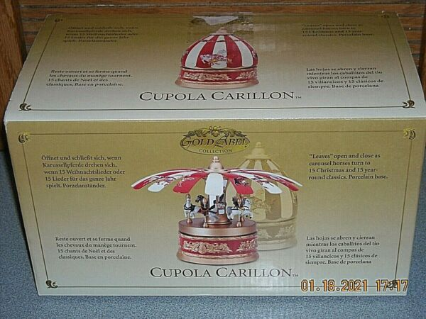 2004 Mr Christmas Gold Label Musical Animated Cupola Carillon Carousel NIB