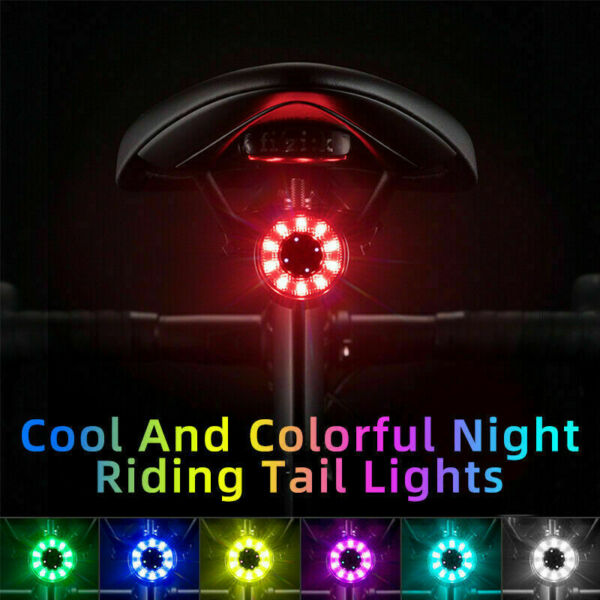 Cycling Colorful Highlight Taillights USB Charge Bike Rear Lights Double Bracket $11.99