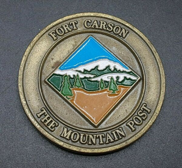 Fort Carson Mountain Post Challenge Coin $12.00