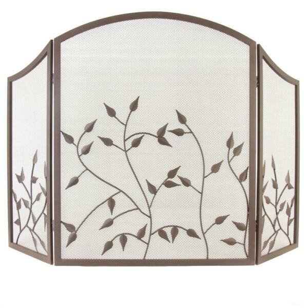 Waverly 3 Panel Fireplace Screen in Colonial Brown by Pleasant Hearth