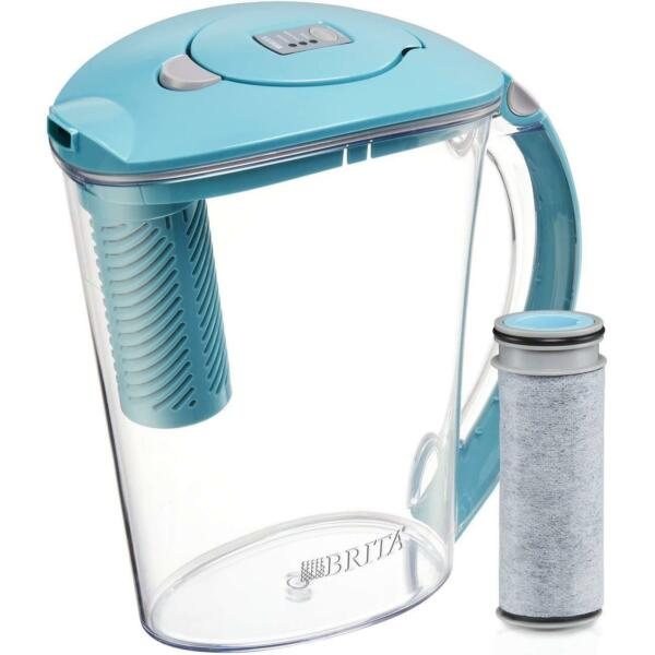 Brita Large 10 Cup Stream Filter as You Pour Water Pitcher with 1 Filter Hydro