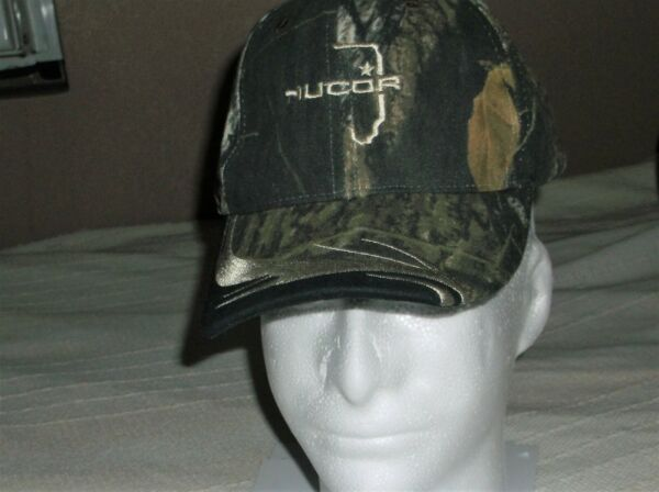 Mossy Oak Nucor Camo Buckle Back Trucker Hat Outdoor Cap Youth Men NWT