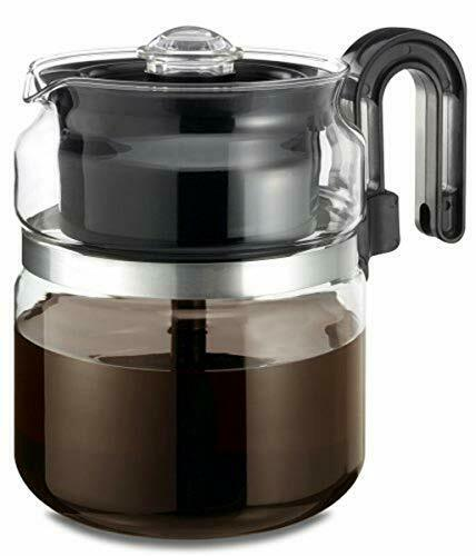 quot;Stovetop Percolator Coffee Pot Glass 8 cup 40 oz High Quality BPA Freequot;