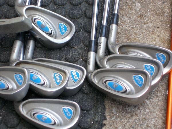 ONE COMPLETE SET OF GOLF CLUBS.